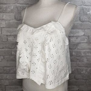 NWT Top Shop See-Through Frill Top Camisole - 14